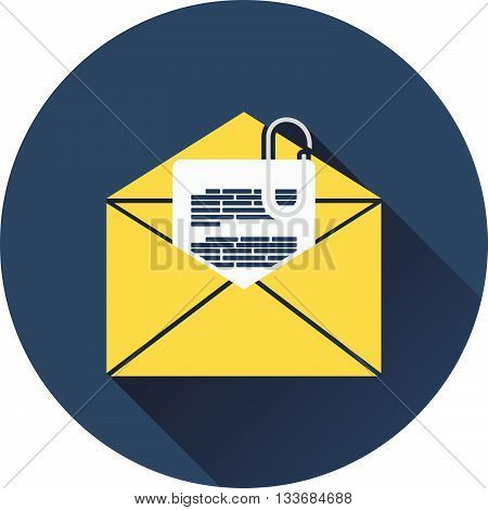 Mail With Attachment Icon