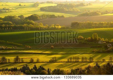View from Janova Vyhlidka viewpoint in Cesky Raj Cesko.