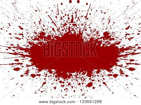 Vector splatter red color background.illustration vector design