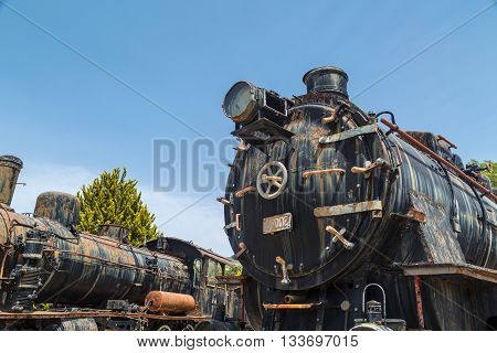 Rusty Train Locomotive