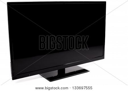 A Flat screen TV isolated on white