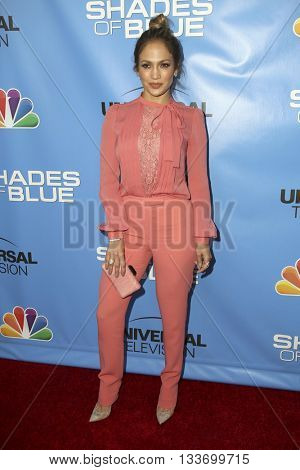 LOS ANGELES - JUN 9:  Jennifer Lopez at the Shades of Blue Television Academy Event at the Saban Media Center on June 9, 2016 in North Hollywood, CA