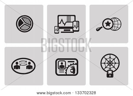 SEO internet marketing icons in minimalist style