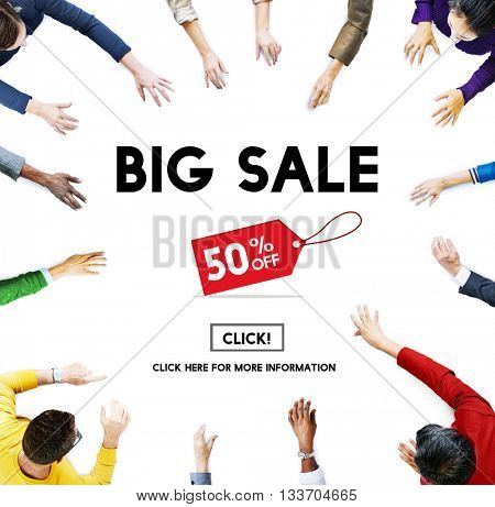 Big Sale Promotion Discount Consumer Shopping Concept