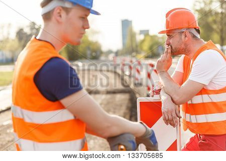 Workmen Having A Break