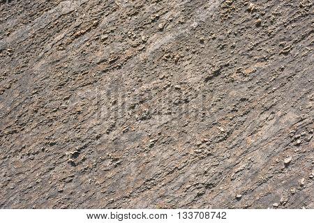 Texture of Calc-silicate rock (Metamorphic rock) in Suphan Buri province Thailand.