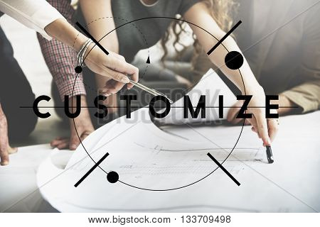 Customize Create Innovate Modify Creativity Concept poster
