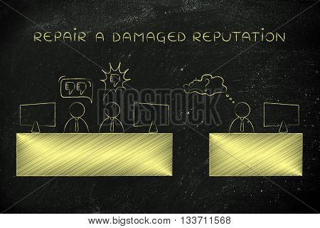 Colleagues Talking Negatively About A Third Person, Damaged Reputation