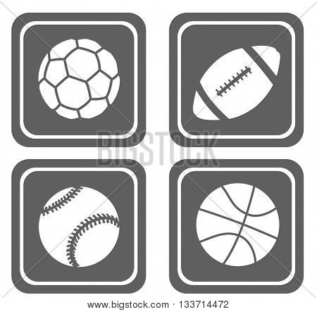 set of four simple sport icons