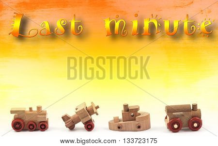last minute promotion with wooden toy transportation