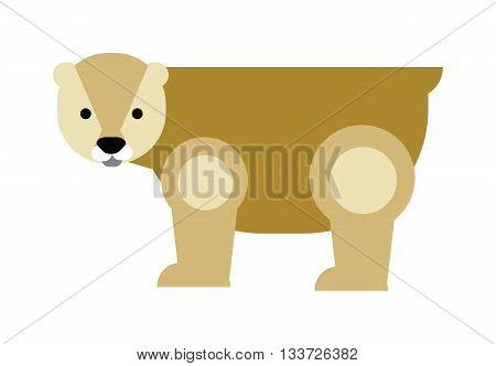 Cartoon polar bear and cartoon polar bear illustration. Cute cartoon polar bear character and wild cartoon bear animal vector. WIld ice animal bear. Cartoon bear