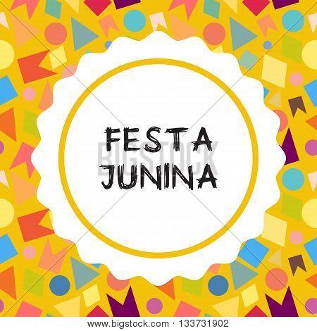 Bright vector illustrationfor the Festa Junina Brazil Festival. Folklore holiday. Festa Junina - June party.