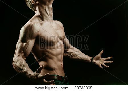 Muscular Man With Veins On Hands