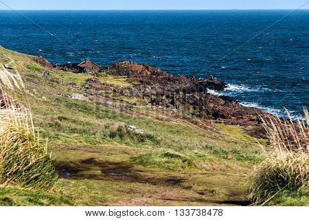 Punta Ballena - a picturesque famous popular seaside holiday destination in Punta del Este Uruguay poster