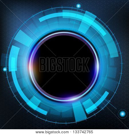 Technology futuristic HUD interface. Abstract background. Stock vector illustration.
