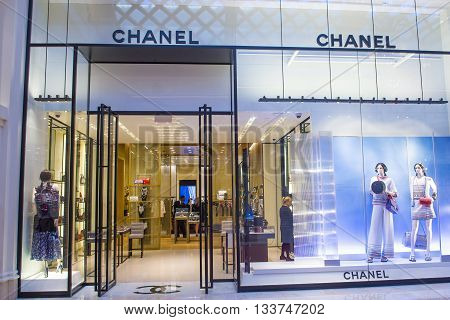 LAS VEGAS - MAY 21 : Exterior of a Chanel store in Las Vegas strip on May 21 2016. Chanel is famous French luxury brand founded in 1909