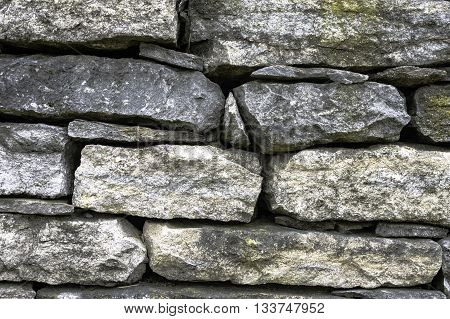 Close up of iconic stone fence in Lexington Kentucky