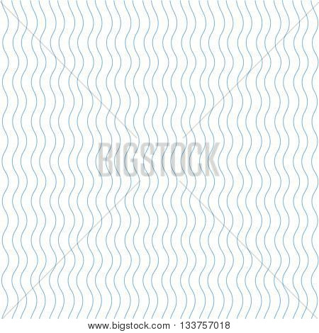 blue seamless wavy line pattern vector illustration