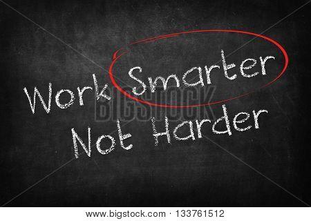 work smarter not harder words on Blackboard
