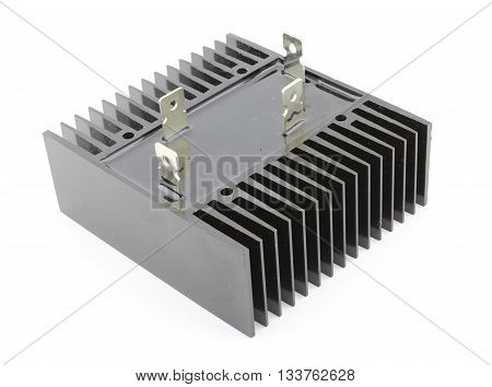 Industrial bridge rectifier, isolated on white background
