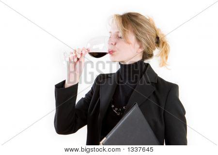 Blond Wine Taster