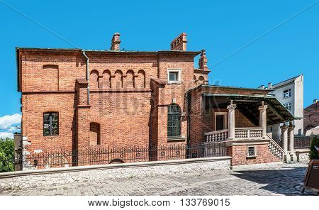 Old Synagogue in historic Jewish Kazimierz district of Cracow Poland