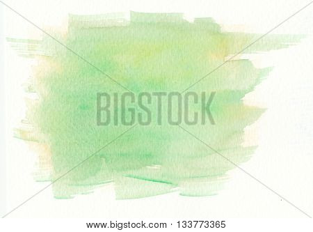 green yellow abstract brush stroke watercolor background