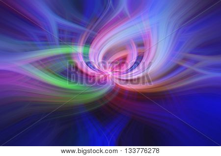 Digital abstract twirl background created from a photograph