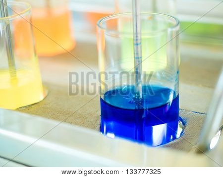 chemical blue color for textile dye in mixing process