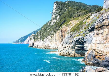 rare view of byron cave in italy portovenere
