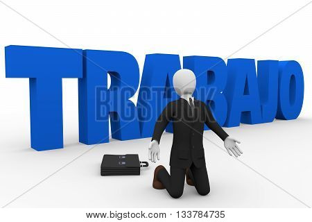 Businessman Claiming For Trabajo