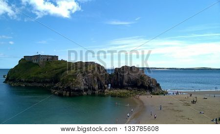 St Catherine's Island, Tenby, Pembrokeshire, South West Wales, UK