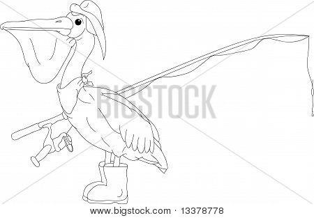 vector - pelican bird like fish hunter poster