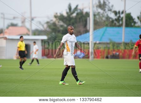 Huahin Thailand-feb6,2016: Heberty Fernandes De Andrade Of Ratchaburi Mitrpol Fc In Action During Fr