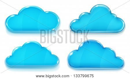 Opaque Blue Glass Clouds