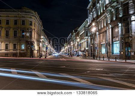 Nevsky Avenue In The Night