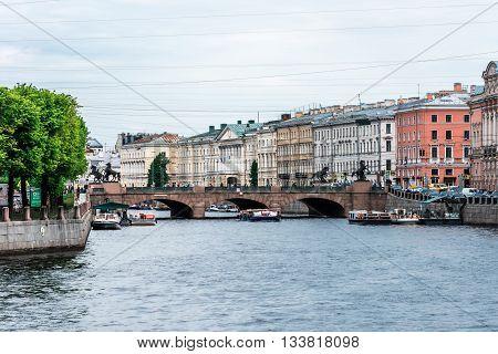 Boats On Fontanka River