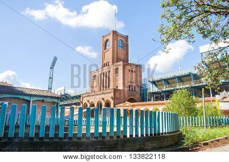 Bologna Italy April 25 2015 - The Maratona tower part of the Renato Dall Ara Stadium city stadium
