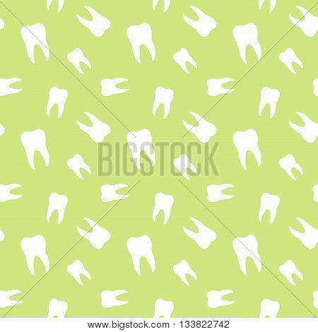 Seamless Teeth Medical And Dental Pattern Background