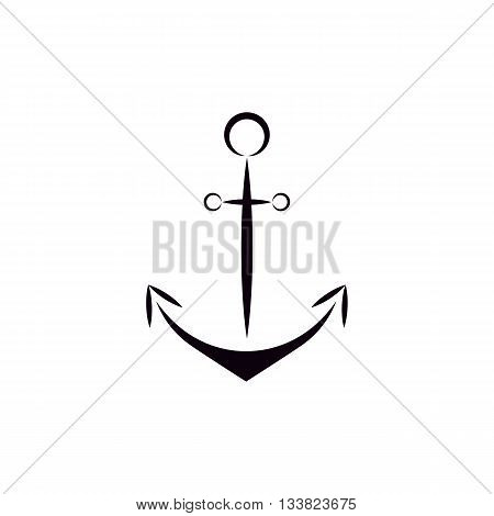 Flat style ship anchor/anchor icon/ Anchor vector isolated black