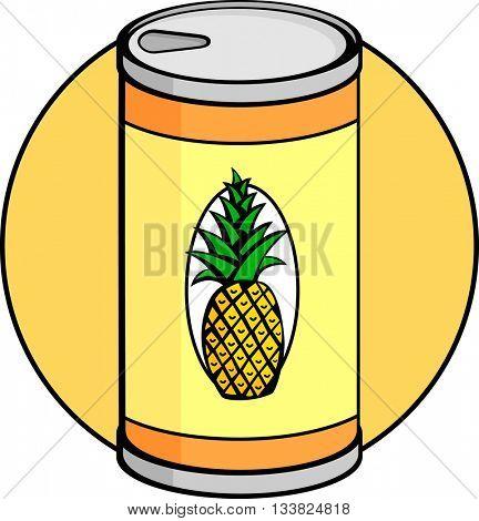 pineapple juice can