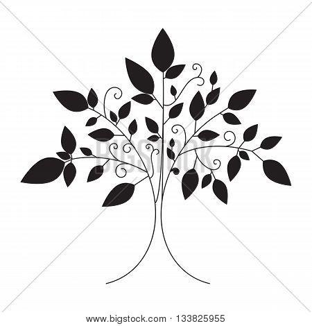 Vector Tree Emblem, Tree Icon For Logo