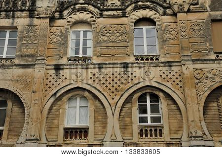 Valence France - april 13 2016 : the Moorish house in the old city