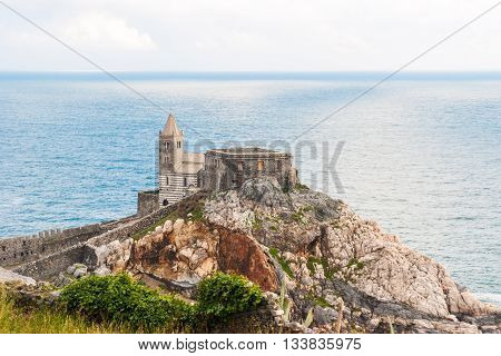 The church of San Pietro in the promontory of Portovenere