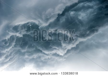 Dramatic sky with stormy clouds, perfect absturct background