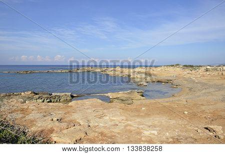 Mediterranean Coast at Cape Drepano; Agios Georgios Pegeia Cyprus