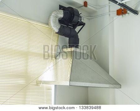 stainless steel metal ventilating chimney installed interior