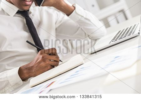Black Man In Office