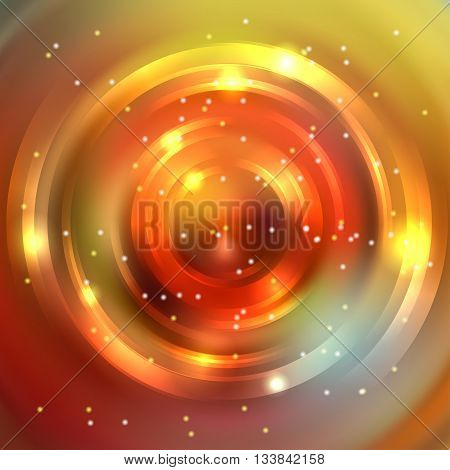 Abstract Background With Luminous Swirling Backdrop. Shiny Swirl Background. Intersection Curves. Or