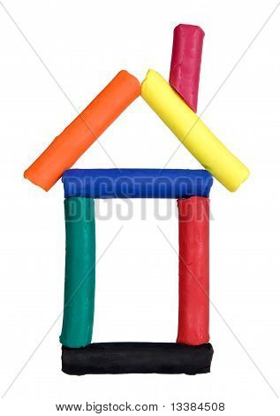 Funny House Made From Colorful Plasticine